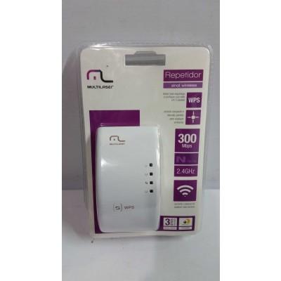 Roteador Repetidor Multilaser 300Mbps WPS