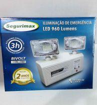 Iluminação de Emergência Segurimax Autônoma 960 Lumens