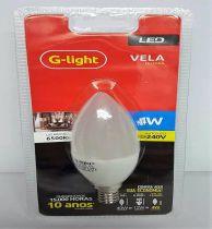 Lãmpada Vela leitosa Led 4w 6500k G-light