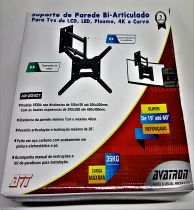 """Suporte de parede Tri-Articulado para TVs-19"""" até 60"""" Avatron"""