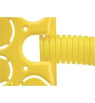 Caixa de embutir drywall 4x2 Gesso Amarela
