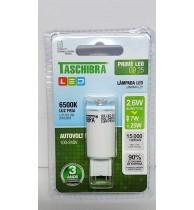 Lâmpada LED G9 2,6W Taschibra 6500K