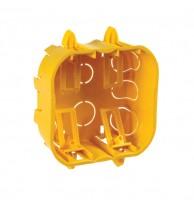 Caixa de embutir drywall 4x4 Gesso Amarela